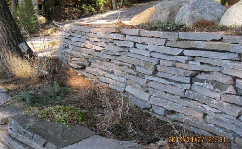 Granite retaining walls